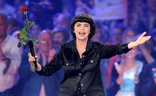 Mireille Mathieu, le 10 octobre, sur un plateau de la télévision allemande.