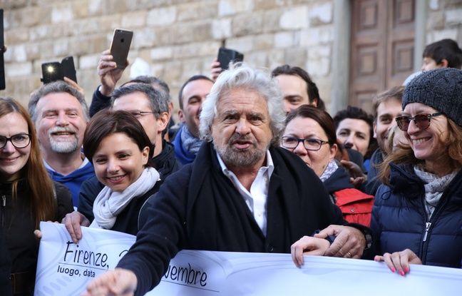 Le chef de file du Mouvement Cinq Etoiles (M5S) Beppe Grillo à Florence, le 28 novembre 2016 à Florence (Italie)