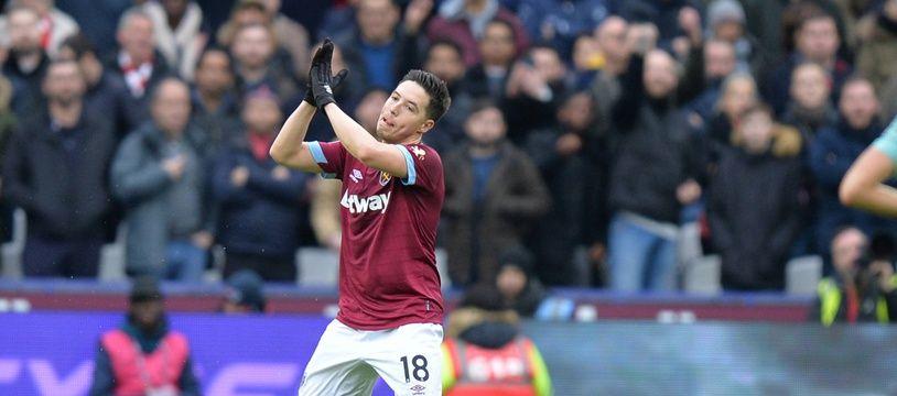 SAmir Nasri a fait son retour en Premier League, sous le maillot de West Ham, après sa suspension de 18 mois, le 12 janvier 2019.