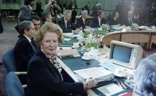 L'ancienne Première ministre britannique Margaret Thatcher, le 5 décembre 1986 à Londres.