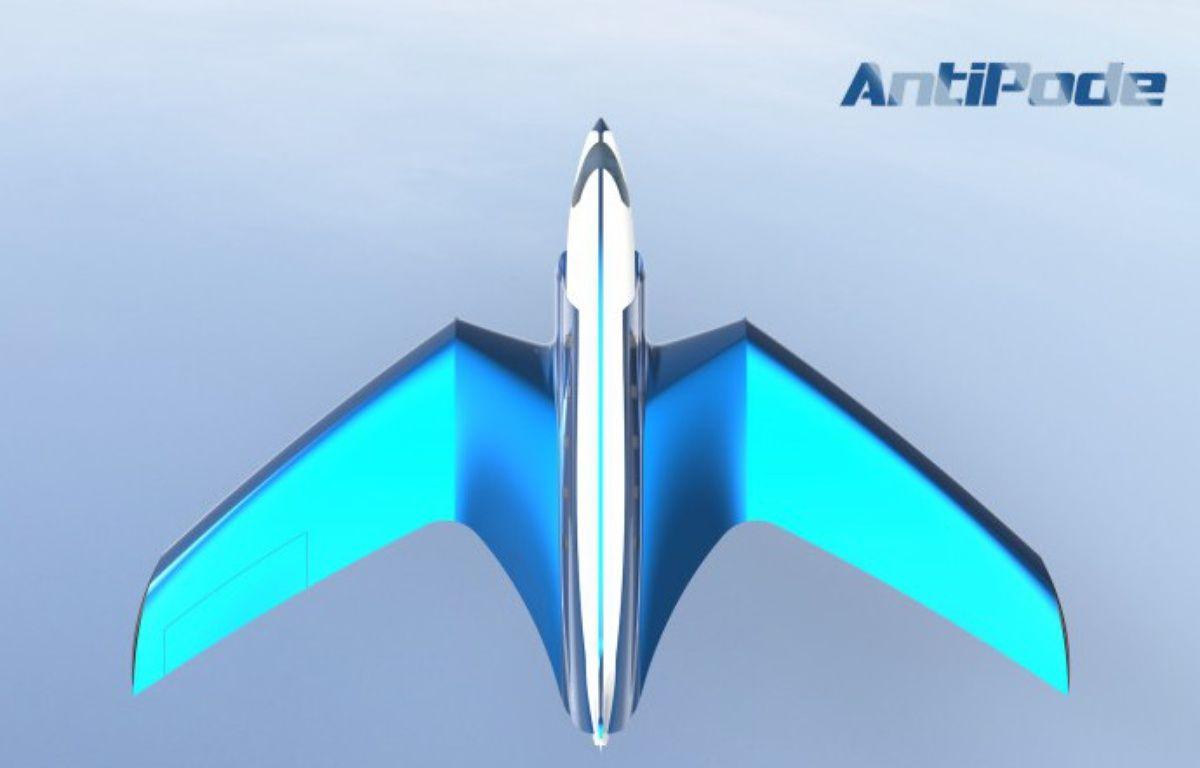 Une image de synthèse d'Antipode, le jet supersonique qui pourrait relier Paris à New York en moins d'un quart d'heure. – ImaginActive.org