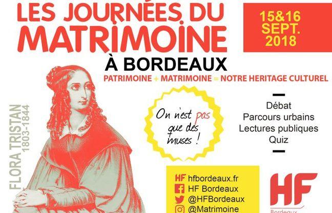 Affiche des Journées du Matrimoine à Bordeaux.