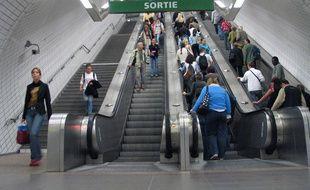 Une station de métro toulousaine. Illustration.