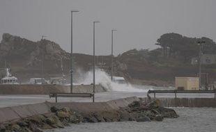 Une tempête dans le Finistère nord, le 5 janvier 2014.