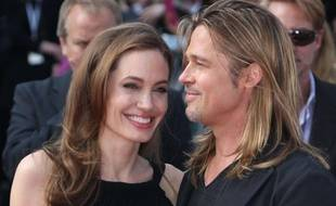 Angelina Jolie et Brad Pitt, à la projection du film «World War Z», à Londres, le dimanche 2 juin 2013.