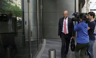 Patrick Kron, PDG d'Alstom arrive au siège du groupe à Paris le 23 juin 2015