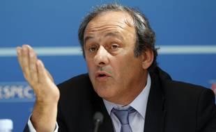 Le président de l'UEFA Michel Platini le 28 août 2015.