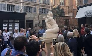 La statue de José Clara a été recréé grâce à la numérisation en 3D. Elle est désormais installée place Mage, à Toulouse.