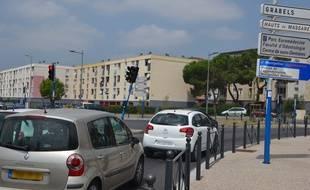 L'entrée dans la Paillade, à Montpellier.