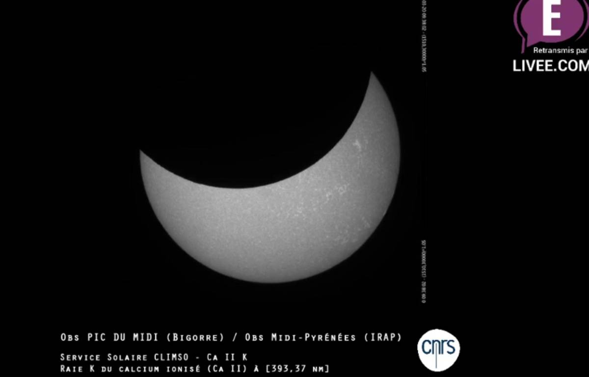 L'éclipse du 20 mars 2015 captée par le CNRS depuis le Pic du Midi. – CNRS