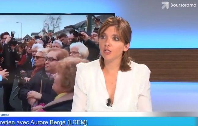 Aurore Bergé dans l'émission « Ecorama » du site Boursorama, le 28 août 2018.