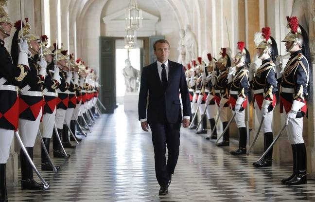 Emmanuel Macron au château de Versailles, le 9 juillet 2018.