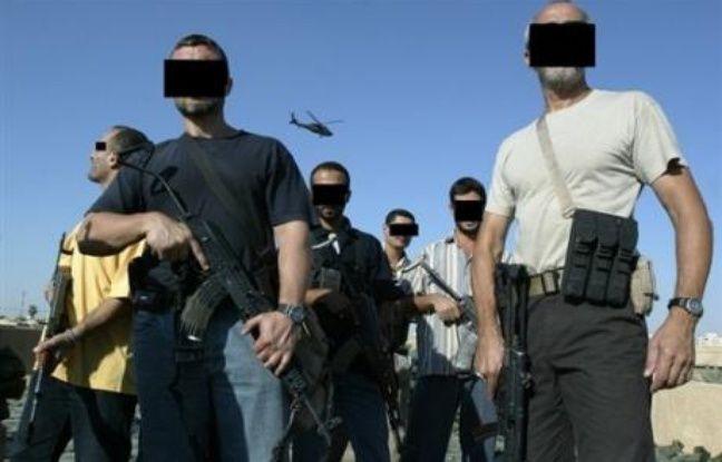Des membres de sociétés militaires privées en Irak