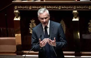 Bruno Le Maire, ministre de l'Economie et des Finances présente le Projet de loi de finances pour 2022, à l'Assemblée nationale, à Paris, le 11 Octobre 2021.