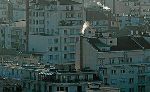 Un jour de pollution, en hiver 2012.