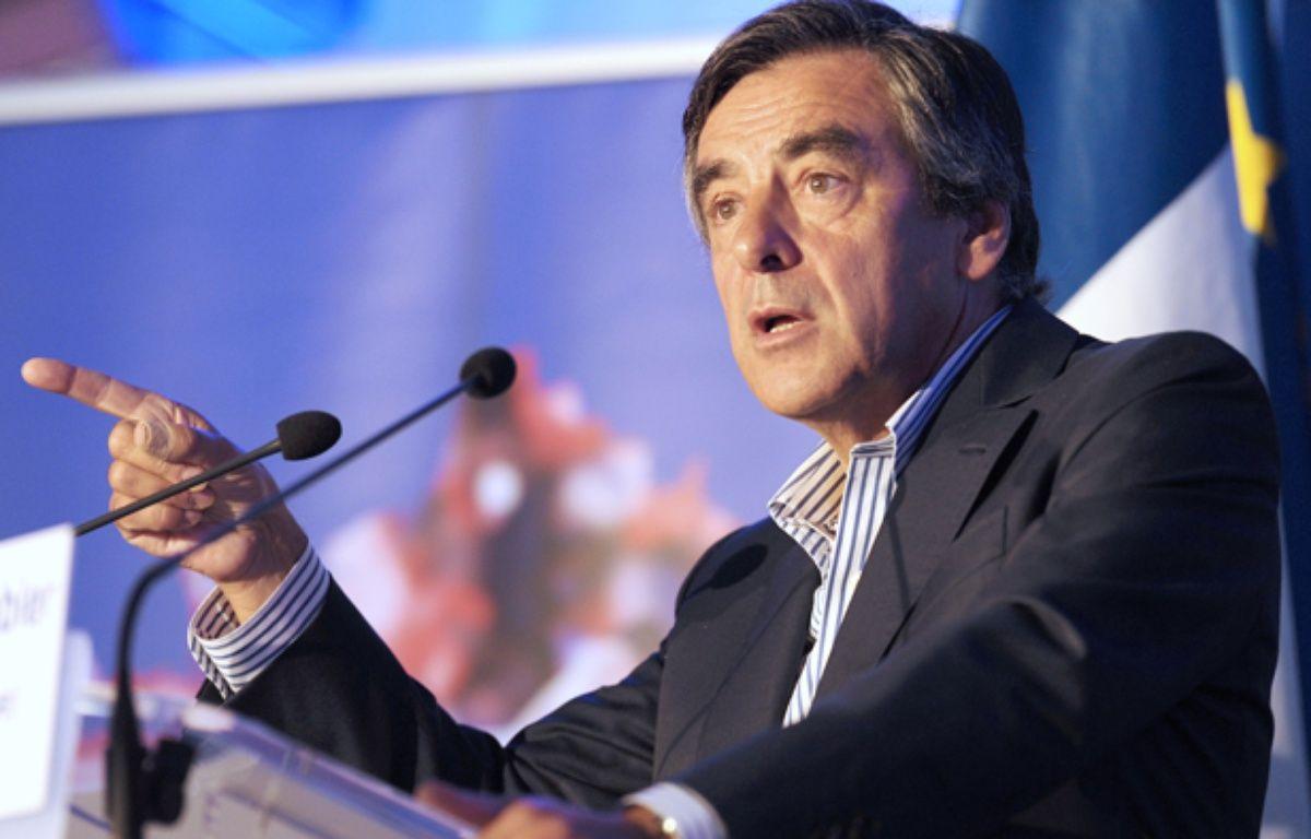 François Fillon à Rouez-en-Champagne (Sarthe), le 27 août 2014. – JEAN-FRANCOIS MONIER / AFP