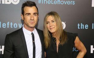 Justin Theroux et Jennifer Aniston à la première de «The Leftovers» à Austin en octobre 2015