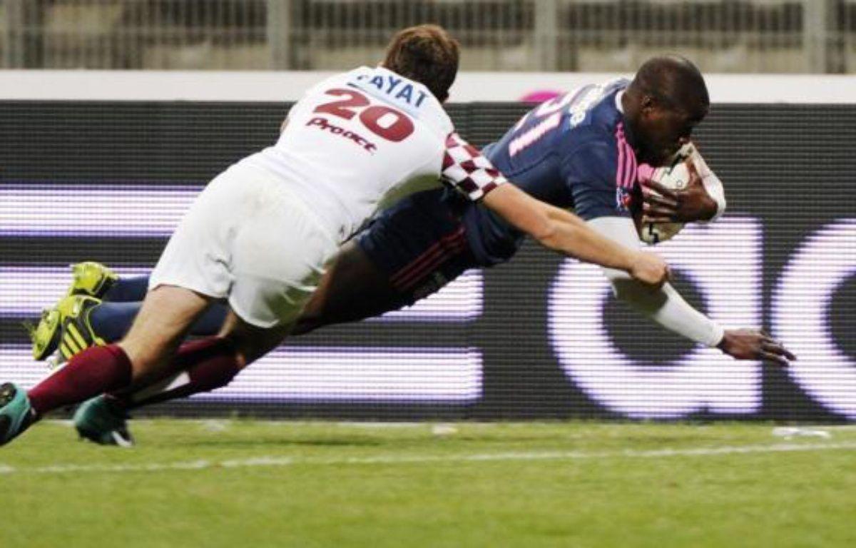 L'arrière du Stade Français Djibril Camara a écopé de six mois de suspension pour infraction aux règles antidopage en matière de localisation – Bertrand Guay afp.com