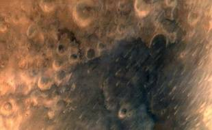 Les premières photos de la planète Mars prise par une sonde indienne envoyée en orbite le 24 septembre 2014.