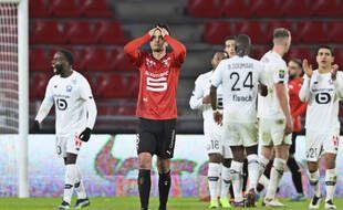 Le milieu de terrain du Stade Rennais Clément Grenier, ici lors de la défaite face au LOSC, le 24 janvier 2021 au Roazhon Park.