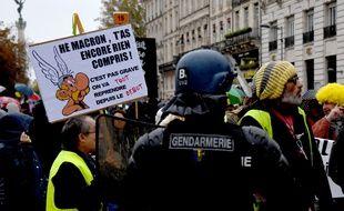 Une manifestation des gilets jaunes a eu lieu ce samedi à Bordeaux.