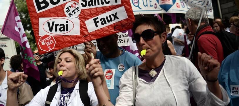 Lors d'une manifestation en 2015, à Paris. (archives)