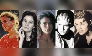 De g. à d.:  Lisa Gattis, Marie Anderson, Carré Otis, Lisa Kaufmann et Ebba Karlsonn.
