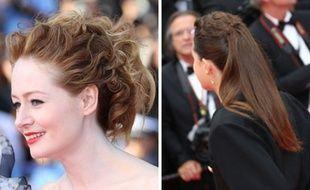 Attache Fuzzy pour Dorothy Atkinson et Twisted Ponytail pour Miranda Otto, deux coiffures signées Dessange pour le Red Carpet.