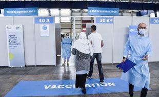 Le centre de vaccination installé à Alpexpo, le centre d'exposition de Grenoble, en avril dernier.