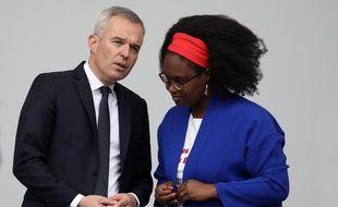 Francois de Rugy, ancien ministre de la Transition écologique et solidaire, Sibeth NDiaye, porte-parole du gouvernement, lors du 14-Juillet.