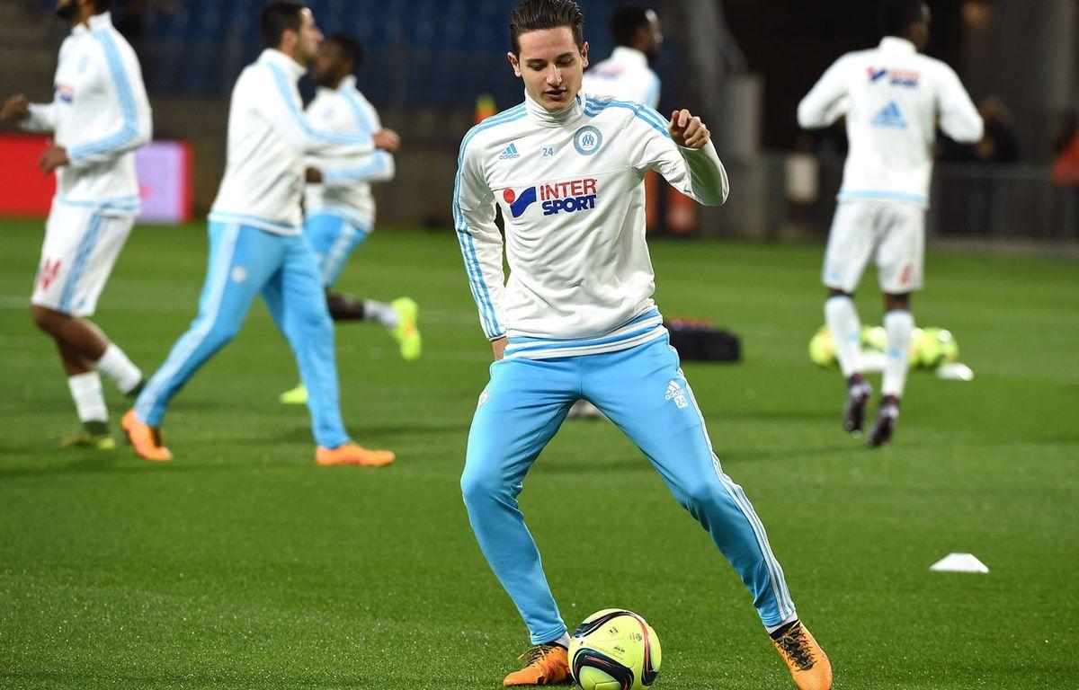 Florian Thauvin à l'échauffement avant Montpellier-Marseille. – PASCAL GUYOT / AFP