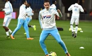 Florian Thauvin à l'échauffement avant Montpellier-Marseille.