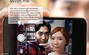 « With me » permettra de faire apparaître à l'écran du téléphone, l'avatar d'un ami ou d'un membre de sa famille mort