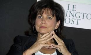 Anne Sinclair lors du lancement de la version française du Huffington Post, le 23 janvier 2012.