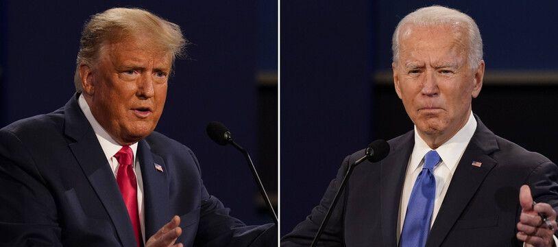 Donald Trump et Joe Biden leur de leur dernier débat le 22 octobre 2020.