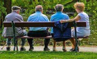 Illustration de retraités.