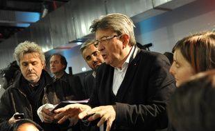Jean-Luc Mélenchon le 15 octobre à la convention de la France insoumise, à Saint-André-lez-Lille.