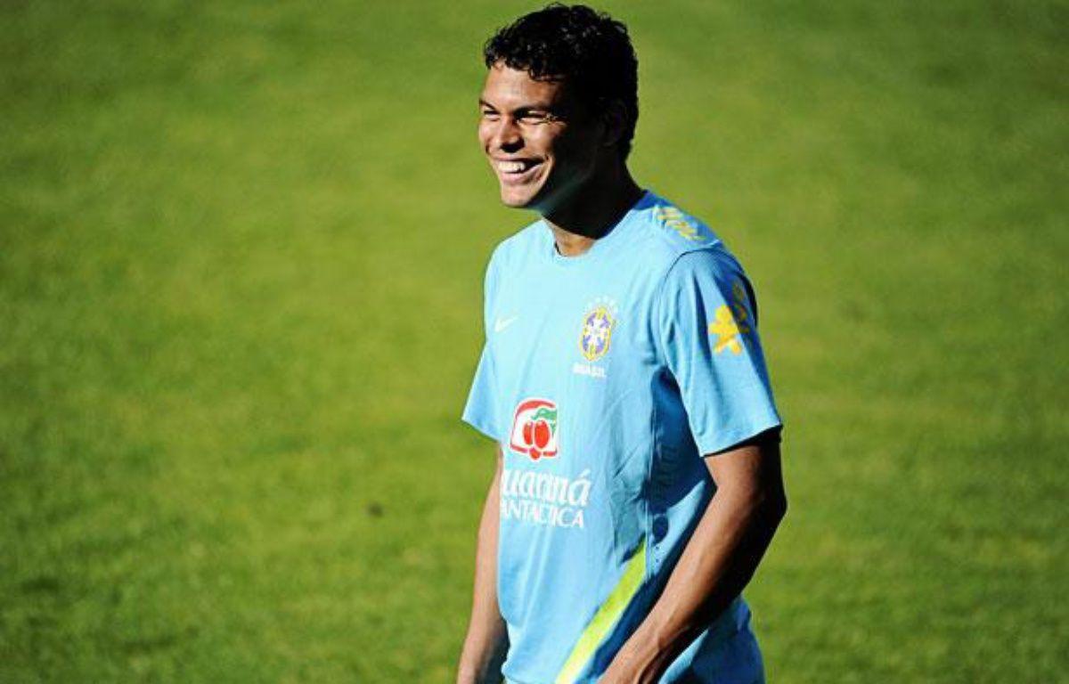 Le Brésilien Thiago Silva, dernière recrue du PSG, le 13 août 2012 à Londres. – S.Sweden/SIPA