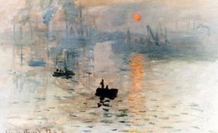 Impression soleil levant de Claude Monet à Marmottan, Paris.Septembre 2005.