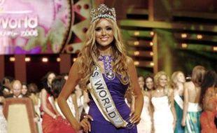 La Russe Ksenya Sukhinova, élue Miss Monde 2008.