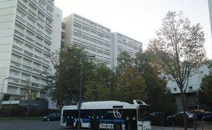 Le quartier des Aubiers à Bordeaux, le 23 octobre 2014