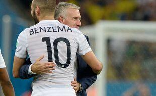 Karim Benzema et Didier Deschamps, de nouveau réunis.