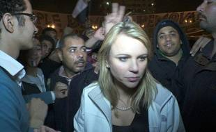 Lara Logan, quelques instants avant son agression place Tahrir, au Caire, le 11 février 2011