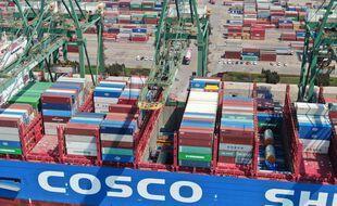 Le port de Tianjin, près de Pékin, en Chine. (illustration)