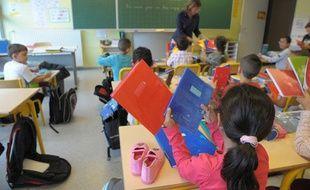 Dans une classe de maternelle à Strasbourg.