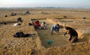 Des fouilles archéologiques en Egypte en 2008 (image d'illustration).
