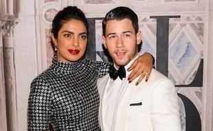 L\u0027actrice Priyanka Chopra et son mari Nick Jonas.