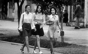 Des étudiantes à Kaboul en 1972.
