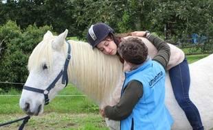 Plusieurs animaux sont mobilisés par l'association, comme des lapins, des chiens ou des chevaux.
