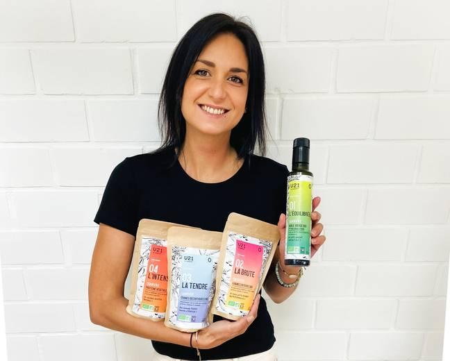 Emilie Capel et ses produits à base de chanvre bio du Gers.